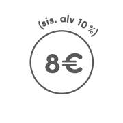 8€ (sis. alv 10%)