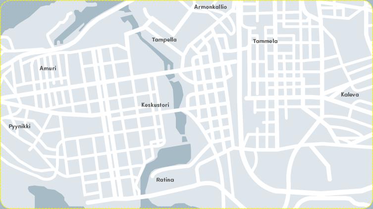 Toiminta-alueena TAMPEREEN KESKUSTA-ALUE